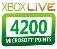 Xbox Live 4200 Points
