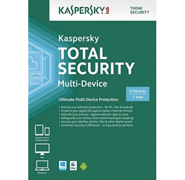 Kaspersky Total Security 2016, 3 Enheter, 1 År