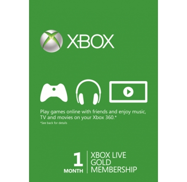 Xbox Live 1 Månad Guld